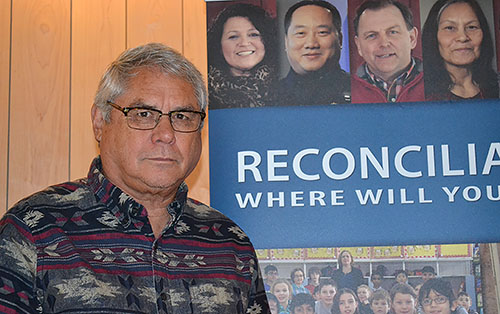 Doug Cuthand at the Reconciliation and Media Conference in Saskatoon.