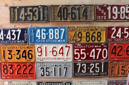 Willow Bunch license plates