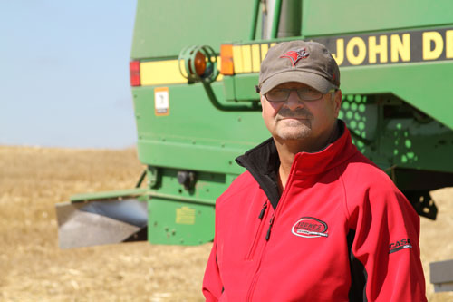 Farmer Brian Kessel in his field south of McLean. Photo by Megan Lacelle.