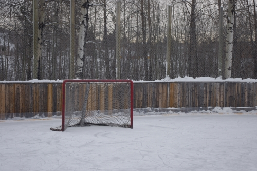 Outdoor rinks like this one have hosted hockey games for years. Photo by Eric Westhaver.