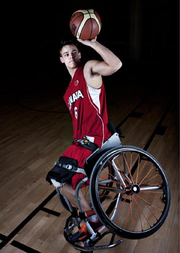 A promotional picture of Nik Goncin for Team Canada/Wheelchair Basketball Canada