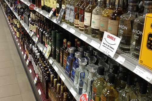 If the Sask Party is re-elected they've pledged to privatize 40 public liquor stores. Photo by Michael Joel-Hansen.