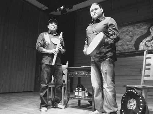 Chamakese, left, and Gladue, right, will be performing at the University of Saskatchewan for Aboriginal Achievement Week.