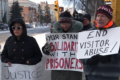 Regina advocates rally for prisoner's rights